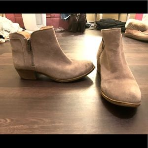 LUCKY BRAND genuine suede booties